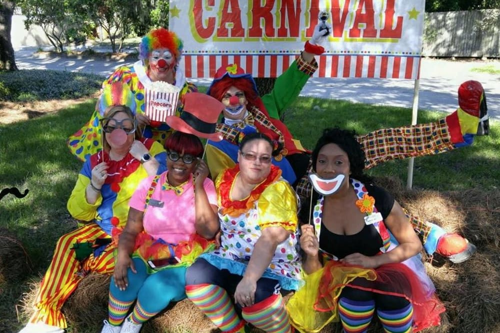 Employees from WRH Realty Services, Inc at a community carnival