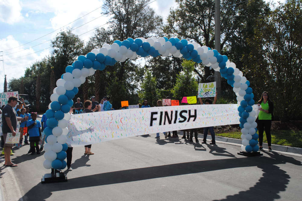 The finish line of a race near at WRH Realty Services, Inc i