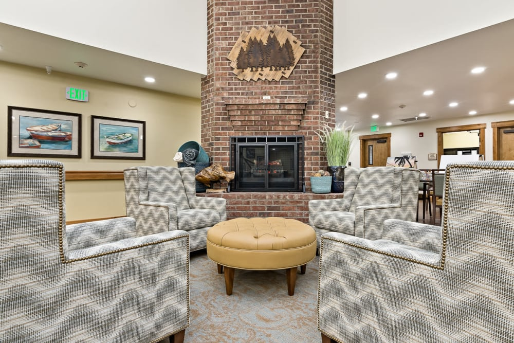 Main common area at Mill View Memory Care in Bend, Oregon