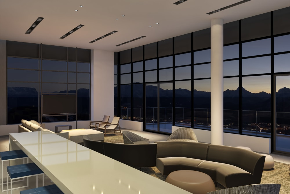 Interior rendering of Parkview Development in Burnaby, British Columbia