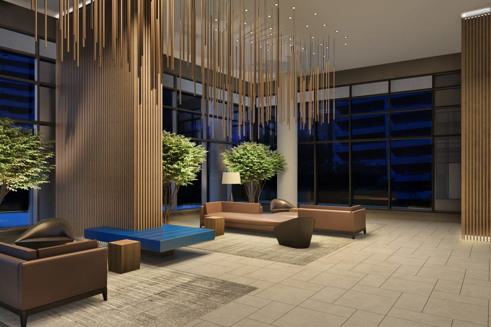 Front lobby of Parkview Development in Burnaby, British Columbia