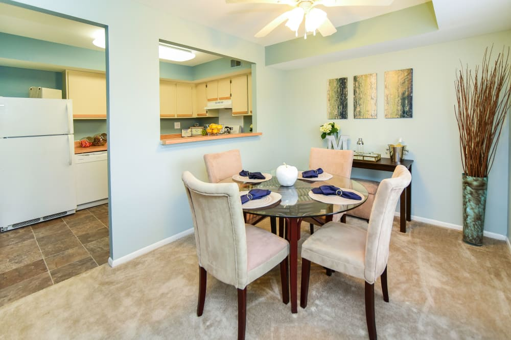 Dining Area at Montgomery Woods Townhomes in Harleysville, Pennsylvania