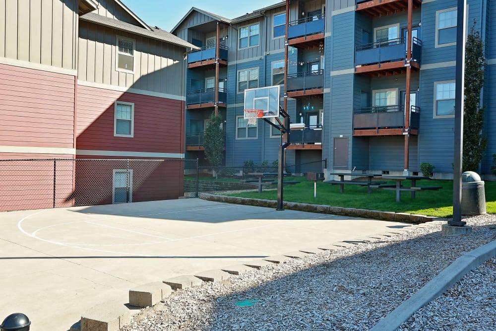 Basketball court at Orchard Ridge in Salem, Oregon