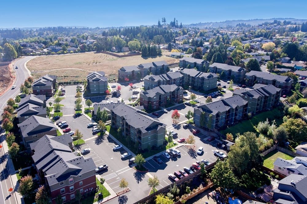 Aerial view of Orchard Ridge in Salem, Oregon