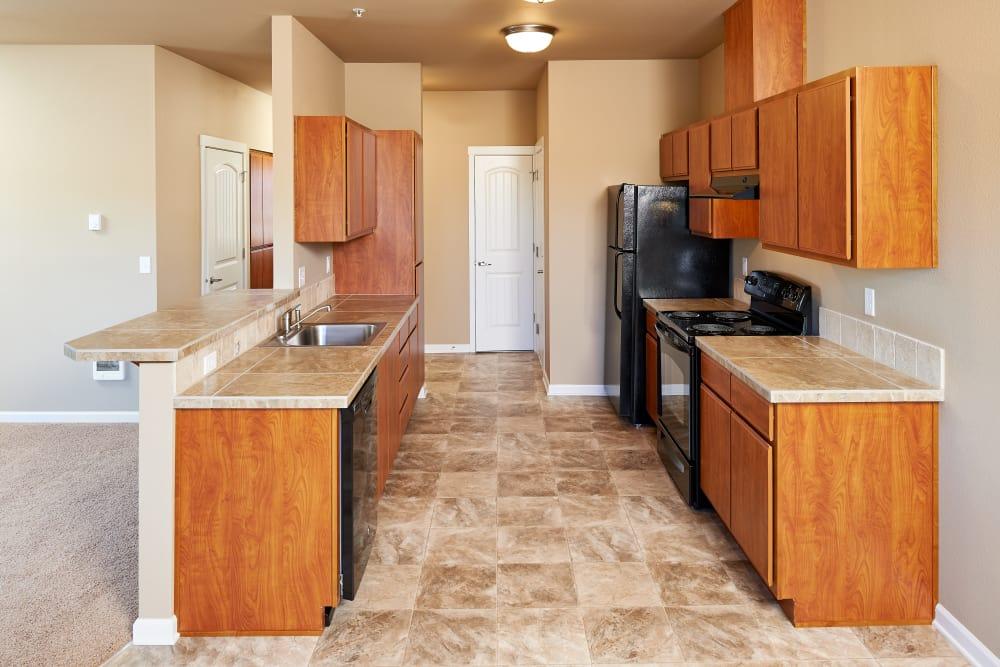 Modern kitchen at Orchard Ridge in Salem, Oregon