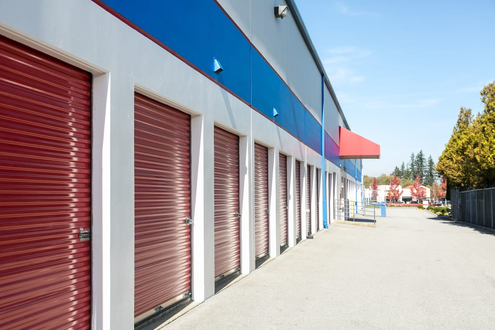 Exterior units at White Rock U-Lock Mini Storage in Surrey, BC