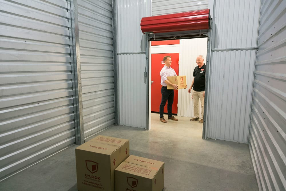 View inside of a unit at White Rock U-Lock Mini Storage in Surrey, BC