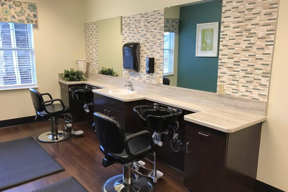 A salon at The Lakes of Sylvania in Sylvania, Ohio
