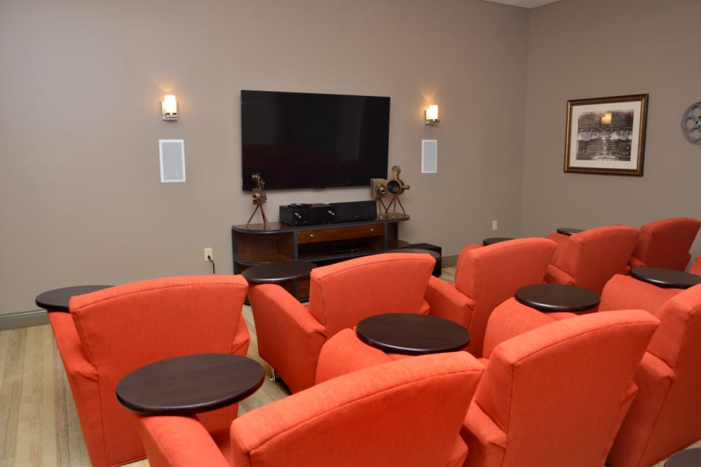 Theatre room at The Springs at Lafayette in Lafayette, Indiana