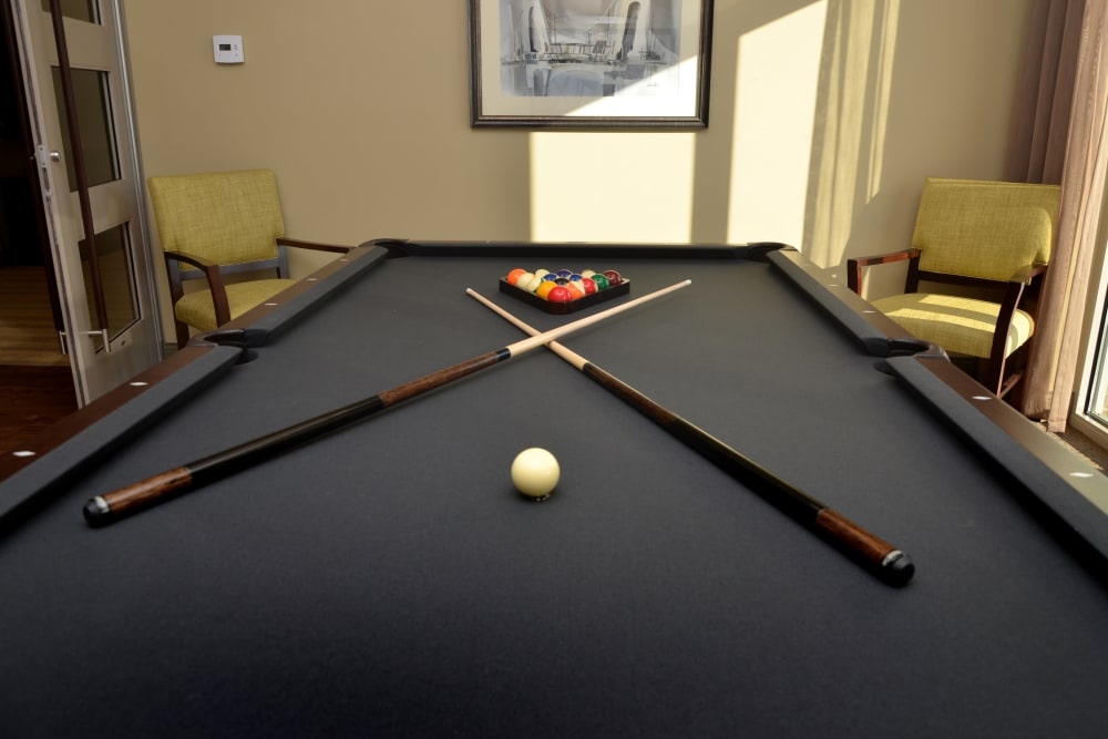 Pool table at The Springs at Lafayette in Lafayette, Indiana