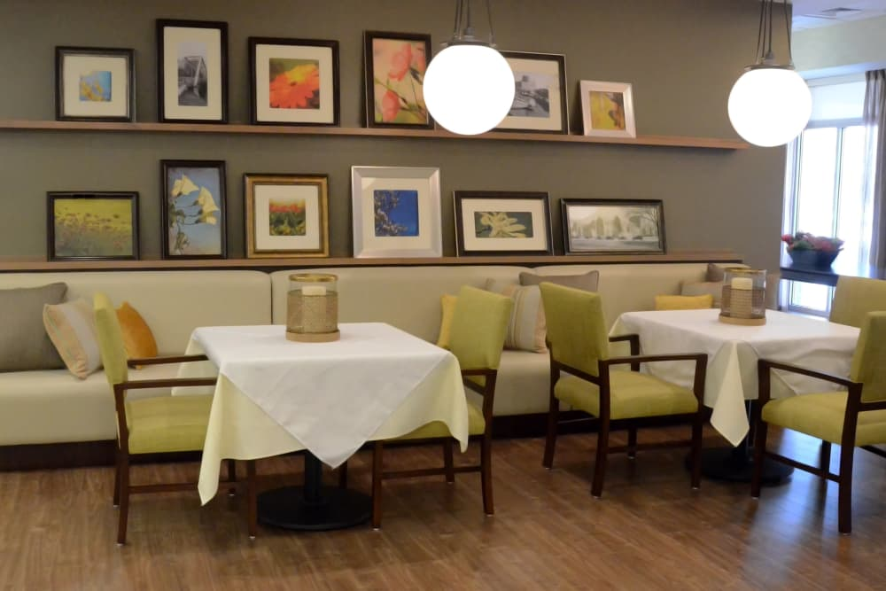 Dining area at The Springs at Lafayette in Lafayette, Indiana