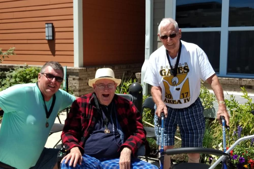 Senior residents enjoying the outdoors at The Springs at Lafayette in Lafayette, Indiana