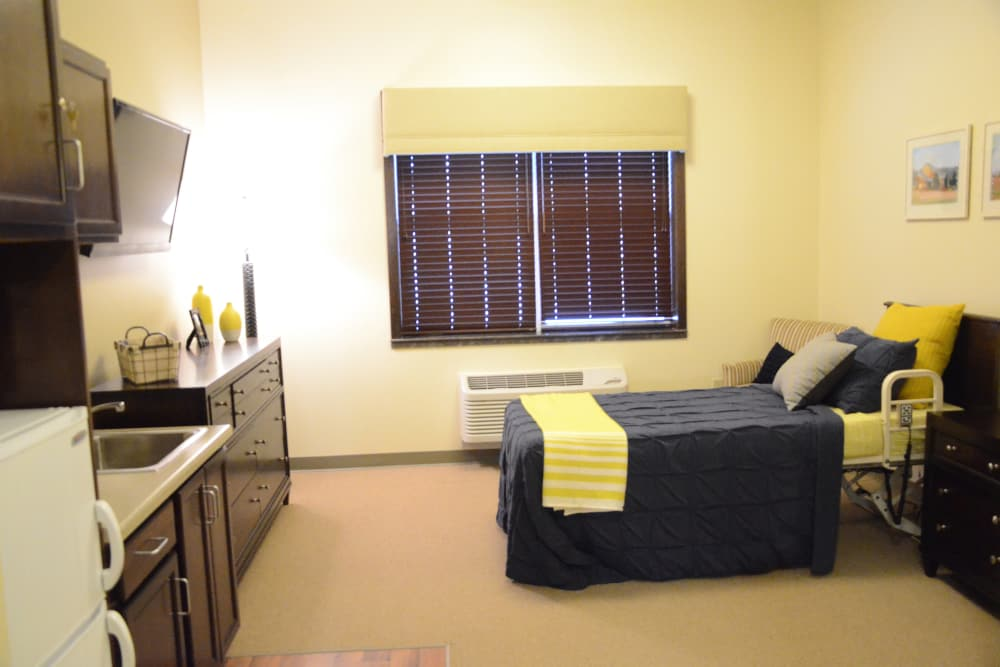 Bedroom with a window at The Springs at Lafayette in Lafayette, Indiana