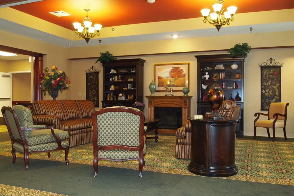 Cozy lounge at Westlake Health Campus in Commerce Township, Michigan
