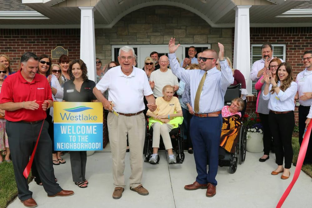 The Westlake Health Campus in Commerce Township, Michigan community welcoming a resident