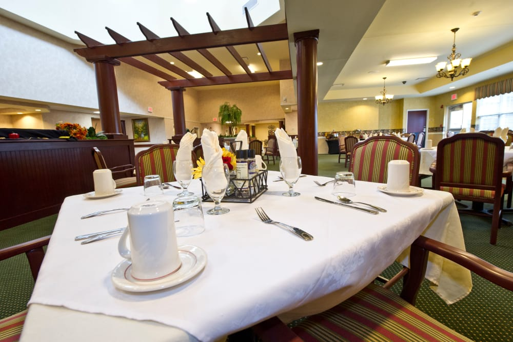 Our Senior Living Facility in Ottawa, Ohio offers a luxury Dining Area