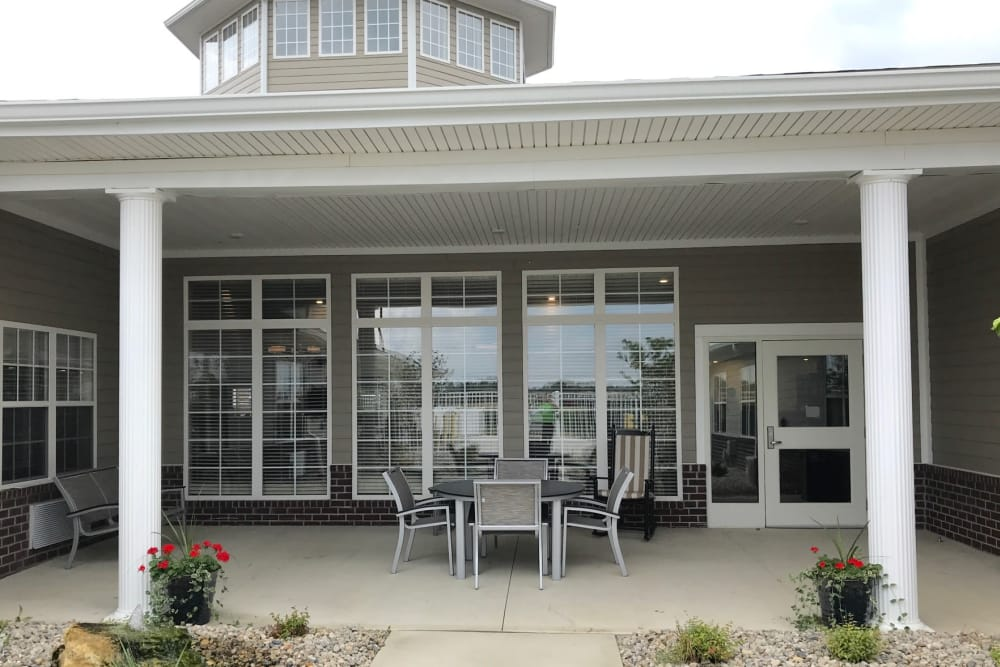 Patio at our Senior Living Facility in Lima, Ohio
