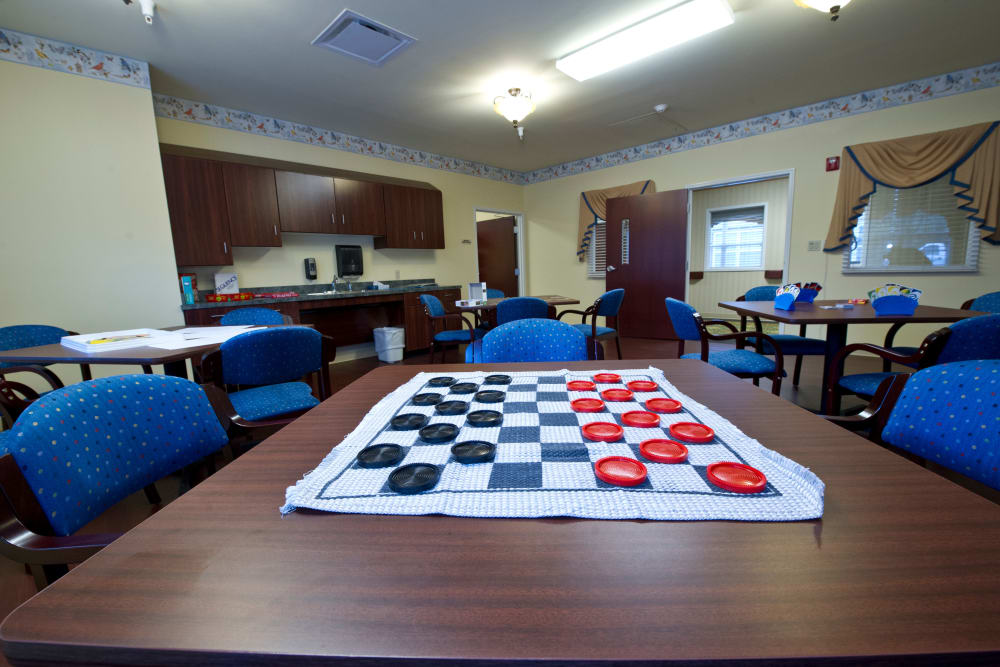 Community game room at Cedar Creek Health Campus in Lowell, Indiana