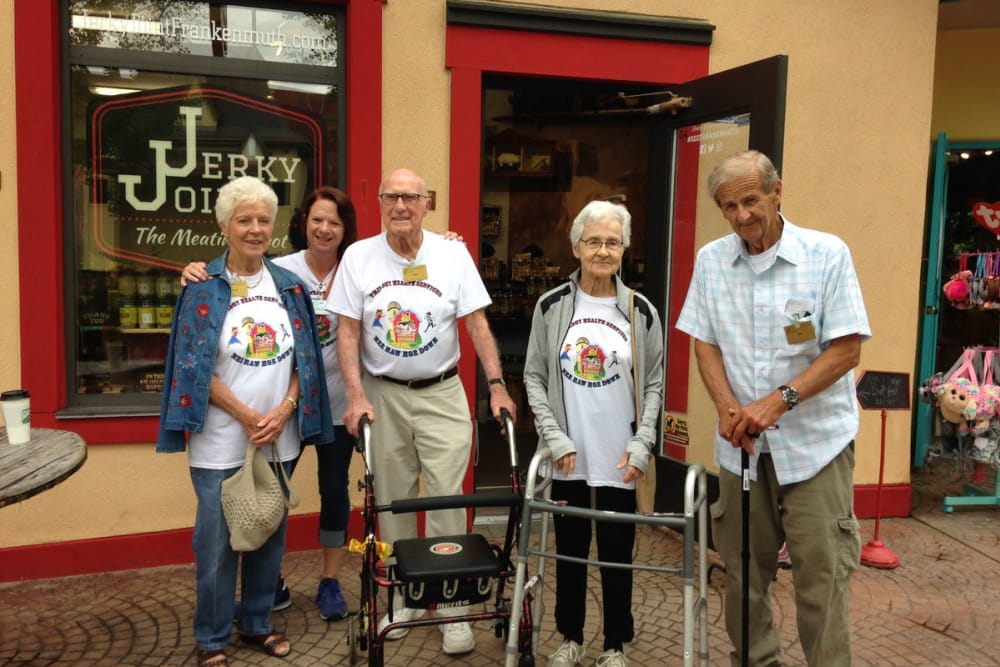 Residents enjoy a group outing in East Lansing, Michigan