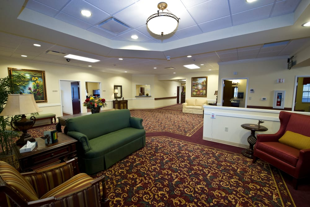 Village Center Lobby at The Willows at East Lansing in East Lansing, Michigan