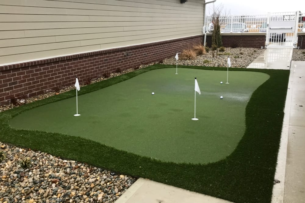 Mini golf course for residents at The Meadows of Delphos in Delphos, Ohio