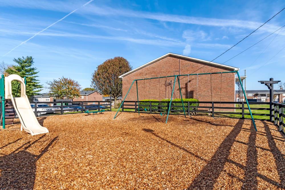 Childrens' play area at Audubon Park