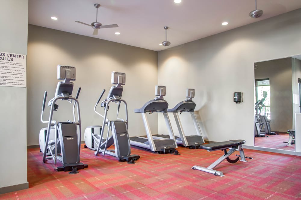 Fitness center for residents at 12 South Flats in Nashville, Tennessee