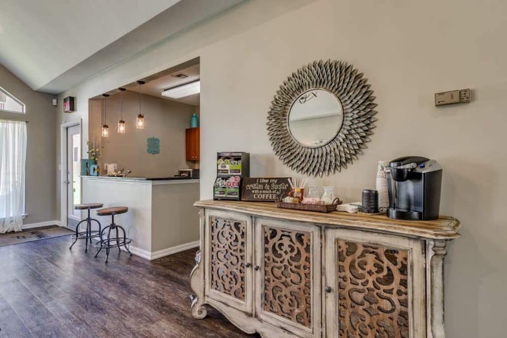 Coffee bar at Pebble Creek in Mustang, Oklahoma