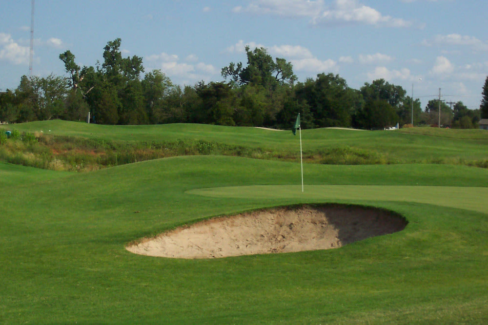 Golf course at Pebble Creek in Mustang, Oklahoma