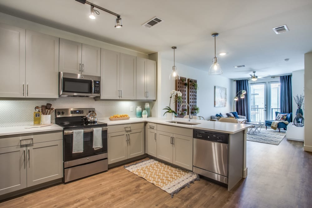 The Ellison offers fully equipped kitchens in Dallas, Texas