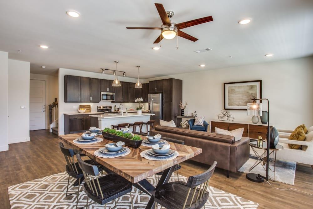 Open, spacious floor plans at The Ellison in Dallas, Texas