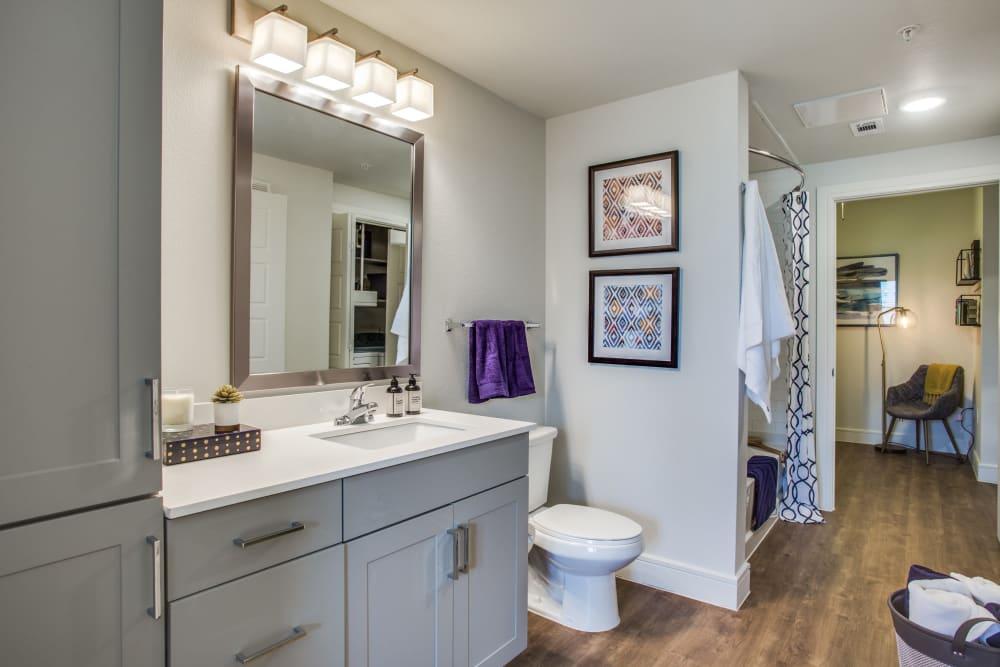 Spacious bathroom at The Ellison in Dallas, Texas