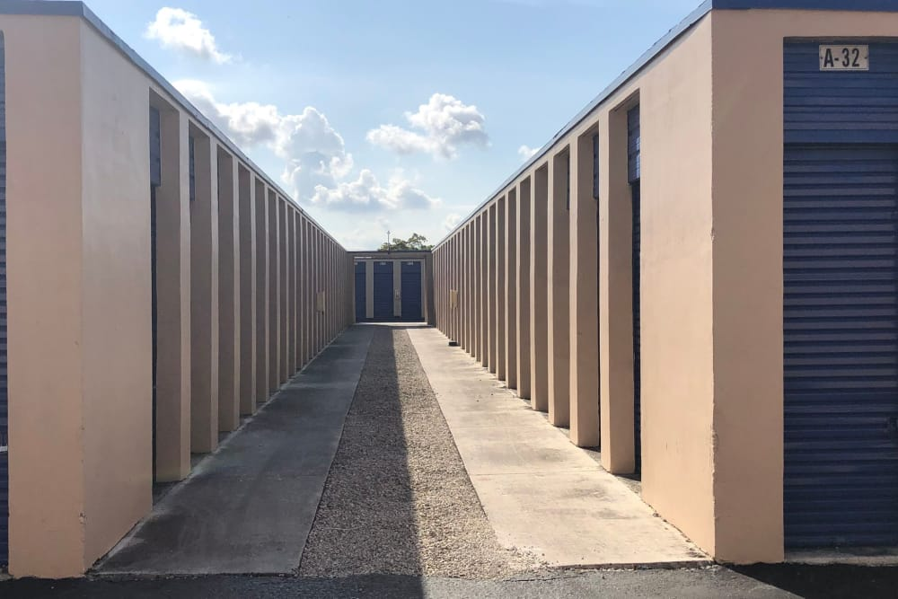 Outdoor units at the self storage facility in Miami Gardens, FL