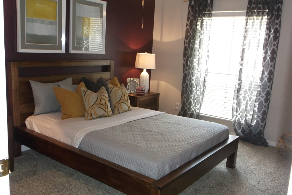 Bedroom at 2400 Briarwest in Houston, Texas