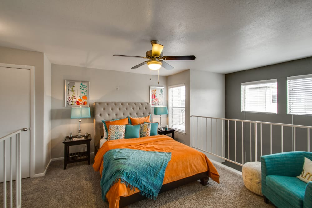 Bedroom at Watermarke Apartments in Fort Worth, Texas