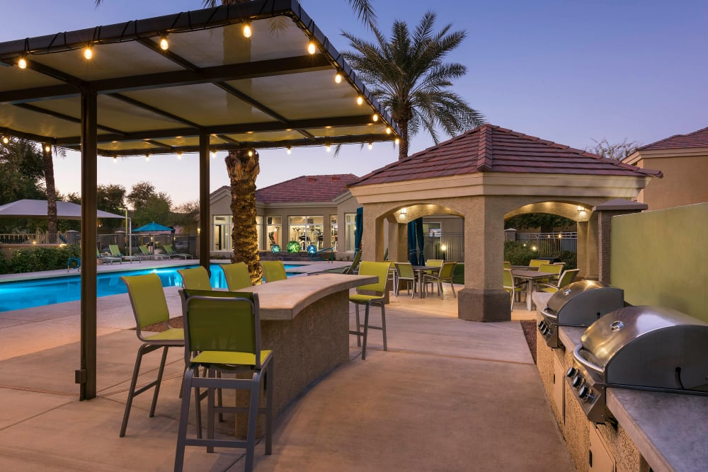Outdoor grilling area at Mira Santi in Chandler, Arizona