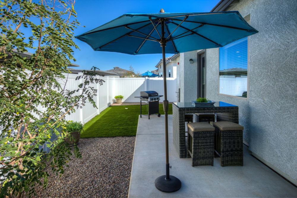 Resident patio at Christopher Todd Communities On Greenway in Surprise, Arizona