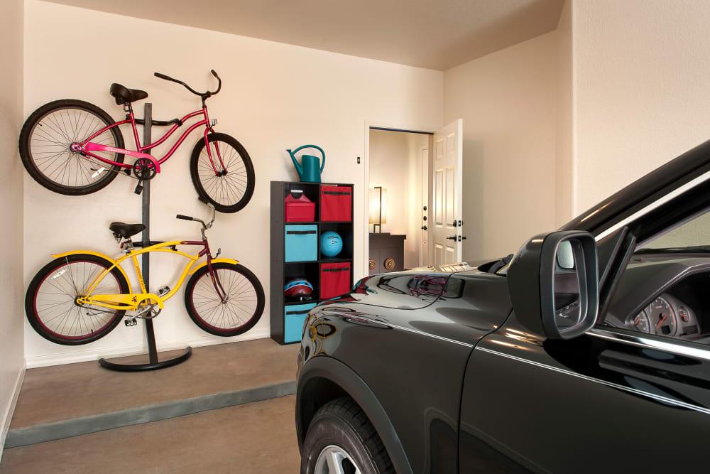 Garage with car and bikes at San Privada in Gilbert, Arizona
