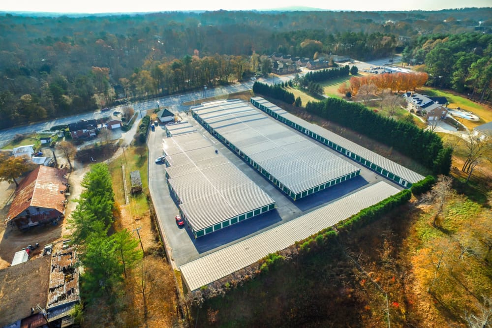 Aerial view of Prime Storage in Greenville, South Carolina
