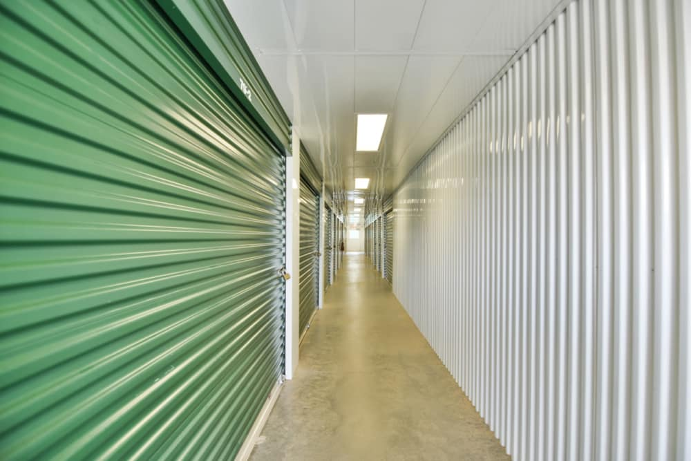 Interior units at Prime Storage in Greenville, South Carolina