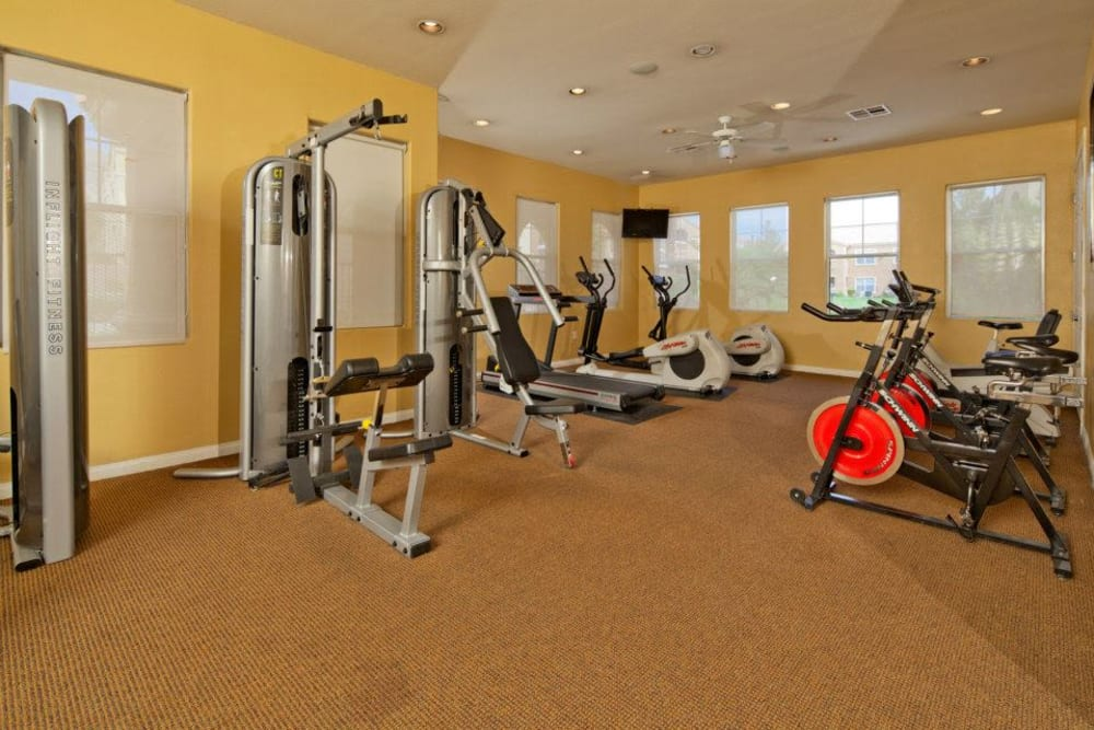 Onsite fitness center at Shadow Hills at Lone Mountain in Las Vegas, Nevada
