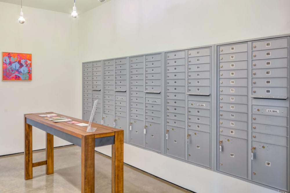 Storage lockers at Nelson Kohl Apartments in Baltimore, Maryland