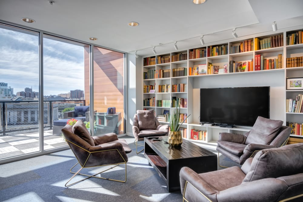 Community clubhouse at Nelson Kohl Apartments in Baltimore, Maryland