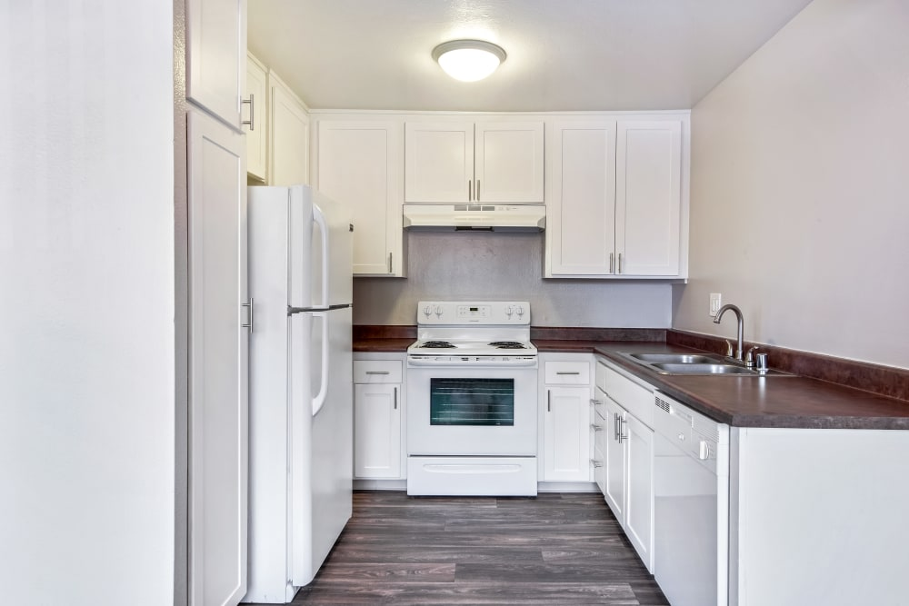 Kitchen at West Fifth Apartments in Ontario, California
