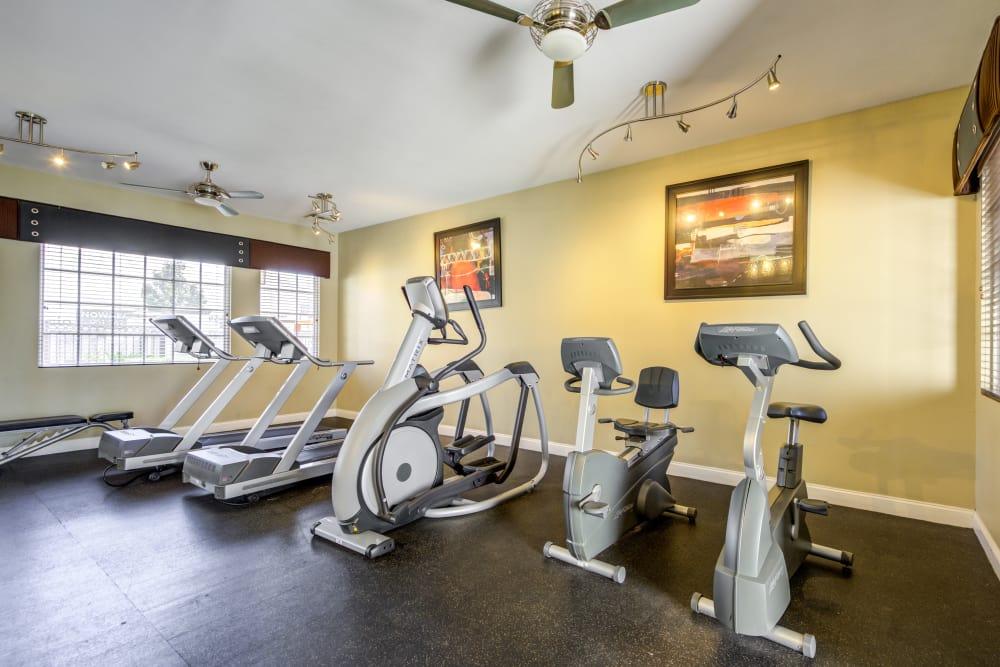 Excercise equipment at Vista Imperio Apartments