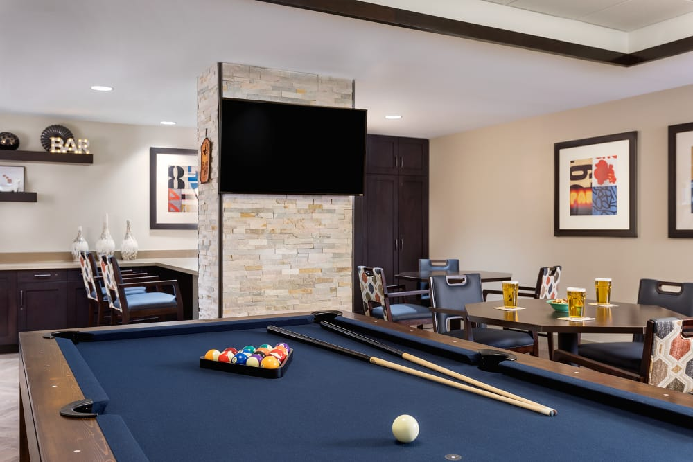 Pool room at Sage Mountain