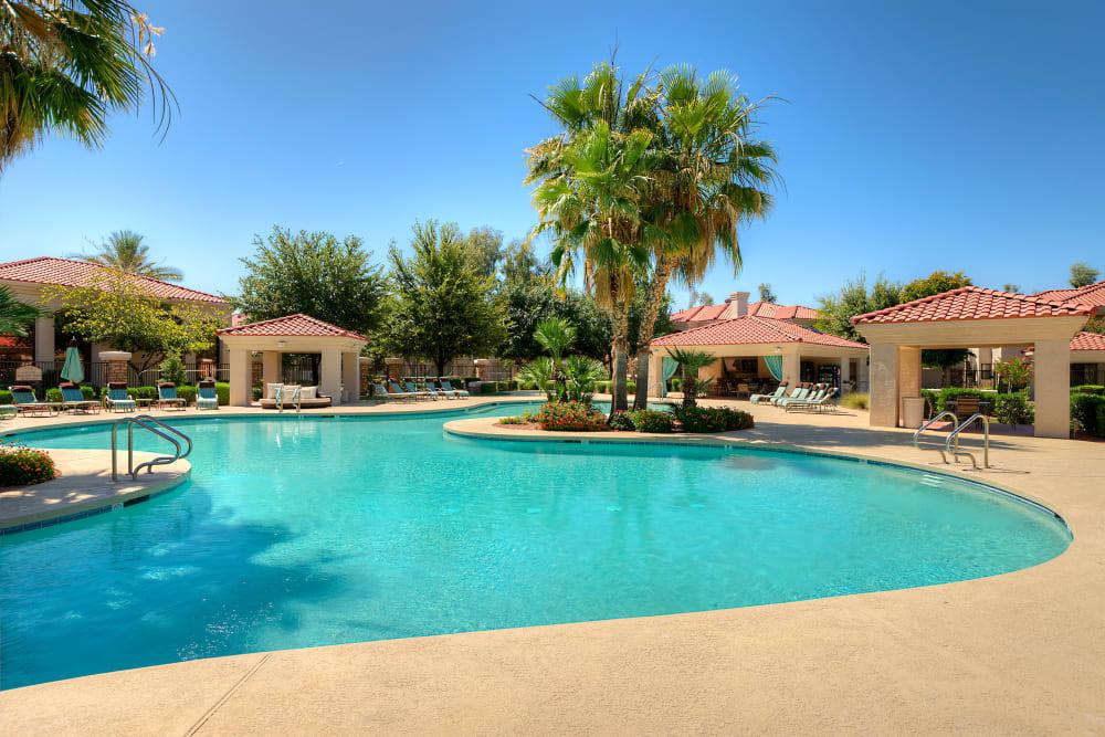 Beautiful swimming pool at San Cervantes in Chandler, Arizona
