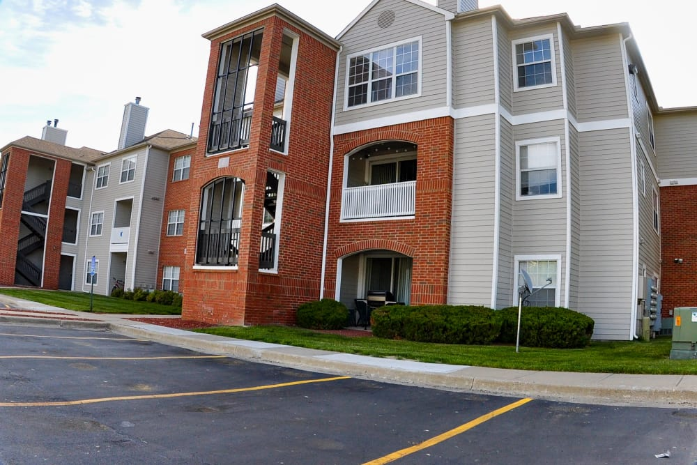 Apartment buildings at Signature Place in West Des Moines, Iowa