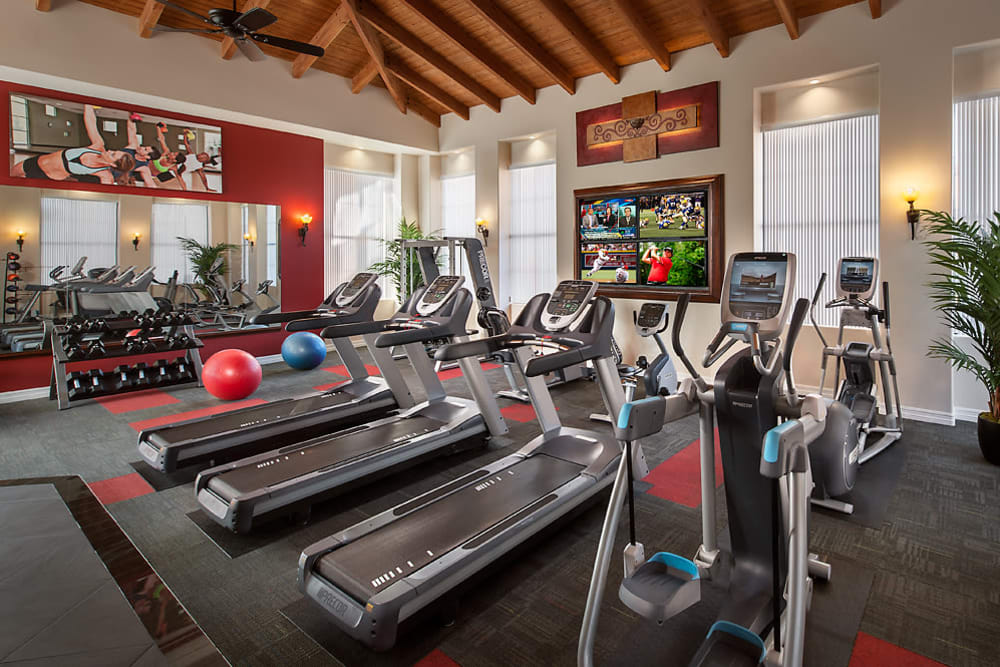 Onsite fitness center at San Norterra in Phoenix, Arizona