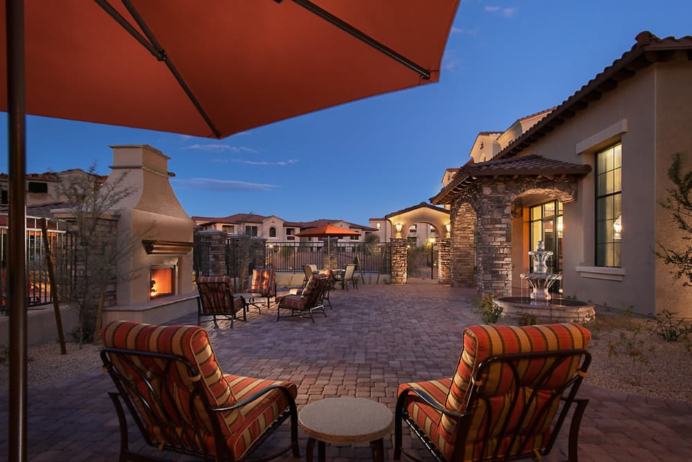 Comfortable seating outside at San Norterra in Phoenix, Arizona